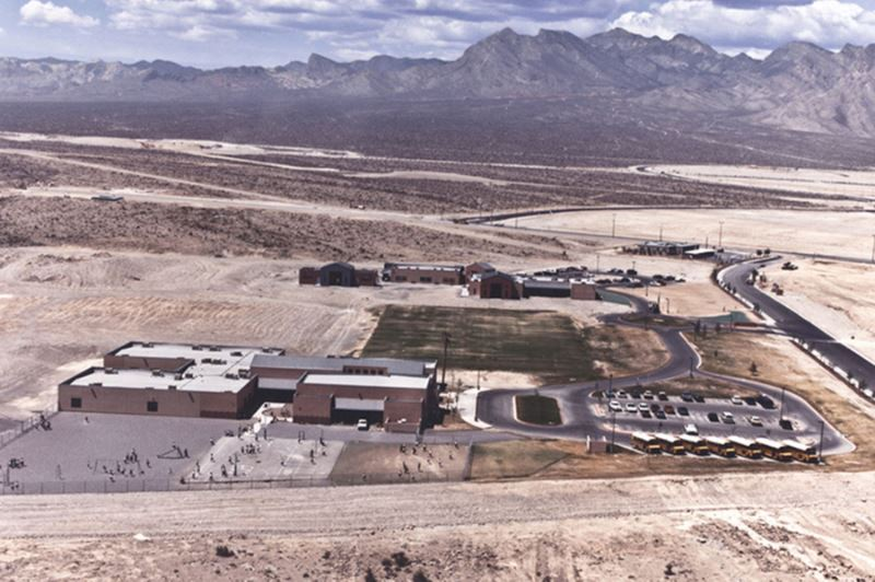 early aerial photograph of the Summerlin campus